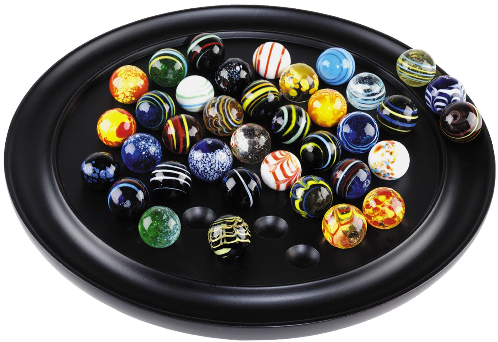25 SIMPLY CLEAR GLASS MARBLES  16mm traditional game play party bag solitaire